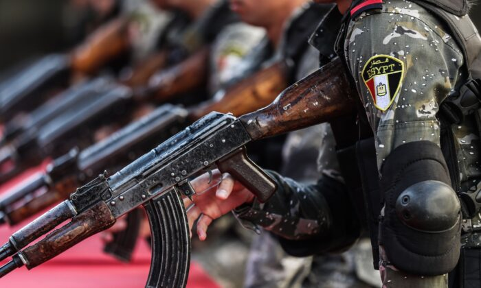 Egyptian police cadets take part in a training session at a police academy in the capital Cairo on Dec. 30, 2019. (Mohamed el-Shahed/AFP/Getty Images)