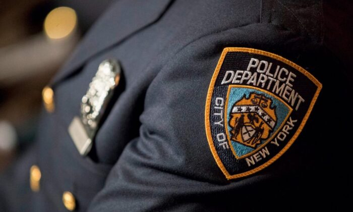 An NYPD officer in a file photograph. (Mary Altaffer/AP)