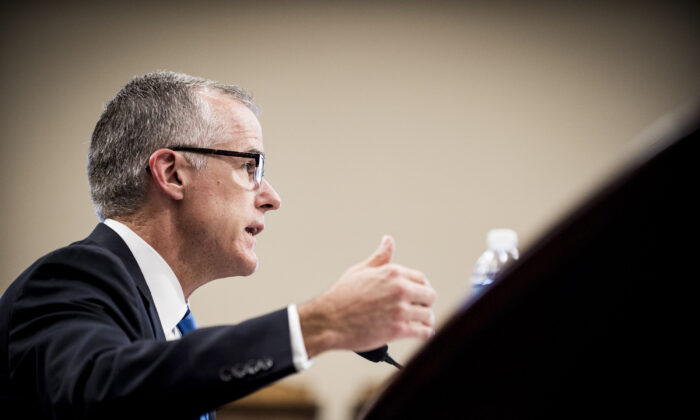 Acting FBI Director Andrew McCabe testifies before a House Appropriations subcommittee meeting on the FBI's budget requests for FY2018 on June 21, 2017. (Pete Marovich/Getty Images)