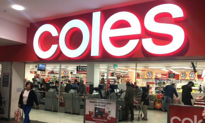 File photo of a Coles supermarket in Sydney, Australia. (Janita Kan/NTD)