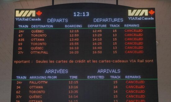 Via to Partly Resume Service Between Quebec City and Ottawa on Feb. 20