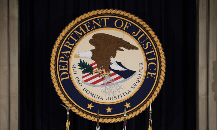 The Department of Justice in Washington on Jan. 14, 2020. (Samira Bouaou/The Epoch Times)
