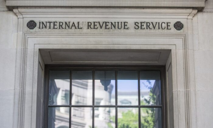 IRS headquarters in Washington on April 15, 2019.  (Zach Gibson/Getty Images)