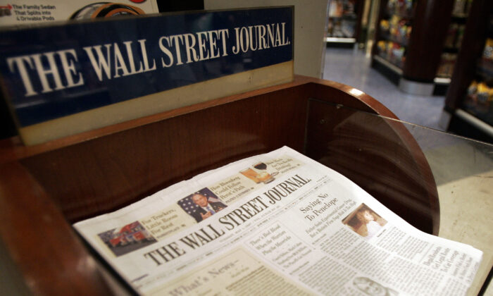 The Wall Street Journal is shown on sale at Hudson News in Grand Central Terminal in New York, on May 1, 2007. (Stan Honda/AFP via Getty Images)