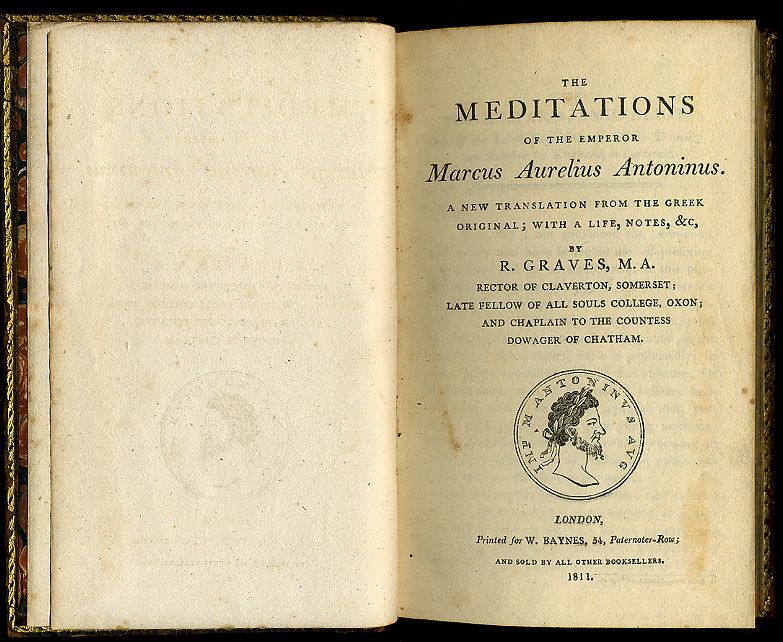 Meditations by MarcusAurelius 1811