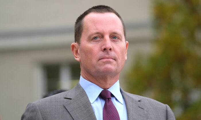Richard Grenell at the Federal Defense Ministry in Berlin, Germany, on Nov. 8, 2019. (Sean Gallup/Getty Images)