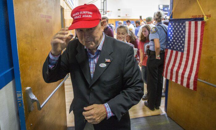 Rep. Dana Rohrabacher (R-Calif.) in Costa Mesa, Calif., on Nov. 6, 2018. (David McNew/Getty Images)
