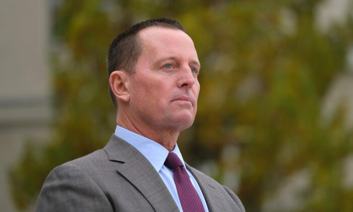 U.S. Ambassador to Germany Richard Grenell at the Federal Defense Ministry in Berlin, Germany, on Nov. 8, 2019. (Sean Gallup/Getty Images)