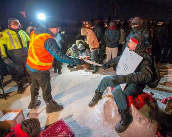 Quebec Protesters-Rail Blockade