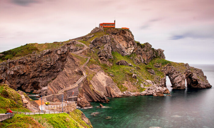 "The sanctuary at San Juan de Gaztelugatxe near Bermeo has become popular with tourists thanks to its appearance in ""Game of Thrones."" (Botond Horvath/Shutterstock)"