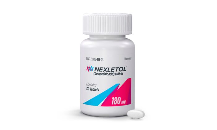 The cholesterol-lowering drug Nexletol made by Esperion Therapeutics Inc. in a file photo. (Esperion Inc. via AP)