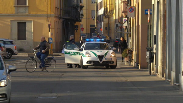 A police car in northern Italy