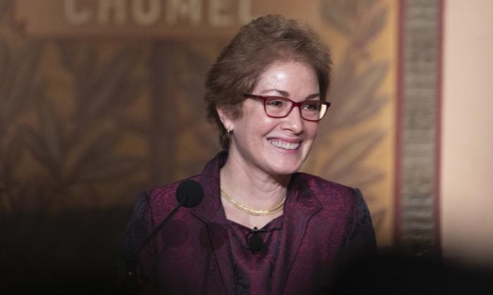 Former U.S. Ambassador Marie Yovanovitch speaks at Georgetown University in Washington on Feb. 12, 2020. (Tasos Katopodis/Getty Images)