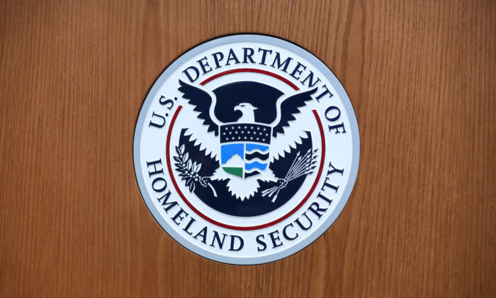 The U.S. Department of Homeland Security logo. (Samira Bouaou/The Epoch Times)