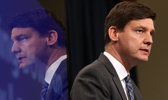 B.C. Attorney General David Eby listens in a file photo. (The Canadian Press/Chad Hipolito)