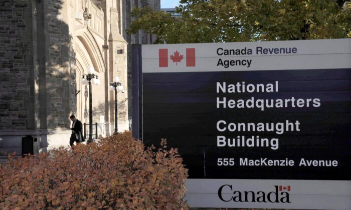 The Canada Revenue Agency headquarters in Ottawa in a file photo. The extent of the state's taxation could expand even further if Tides Canada gets its way. (The Canadian Press/Sean Kilpatrick)