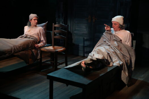 James Russell and John Keating in Irish Rep's 2020 production of LADY G-PLAYS AND WHISPERINGS OF LADY GREGORY