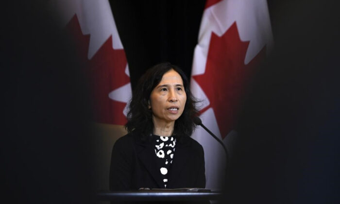 Chief Public Health Officer of Canada Dr. Theresa Tam speaks at a press conference in Ottawa, on Jan. 26, 2020. (Justin Tang/The Canada Press)