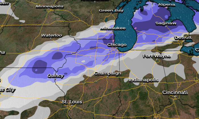 Snow Forecast. (Courtesy of CNN Weather)