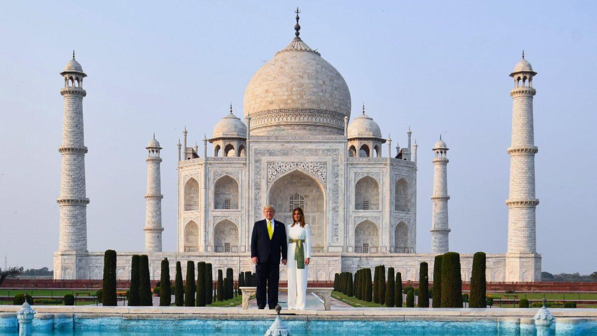 Taj Mahal Trump and Melania