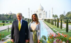 Trump and Melania Visits India's Taj Mahal During Official Trip