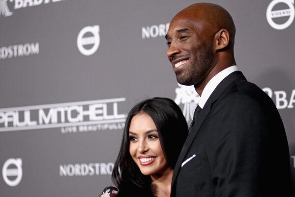 Vanessa Laine Bryant (L) and Kobe Bryant