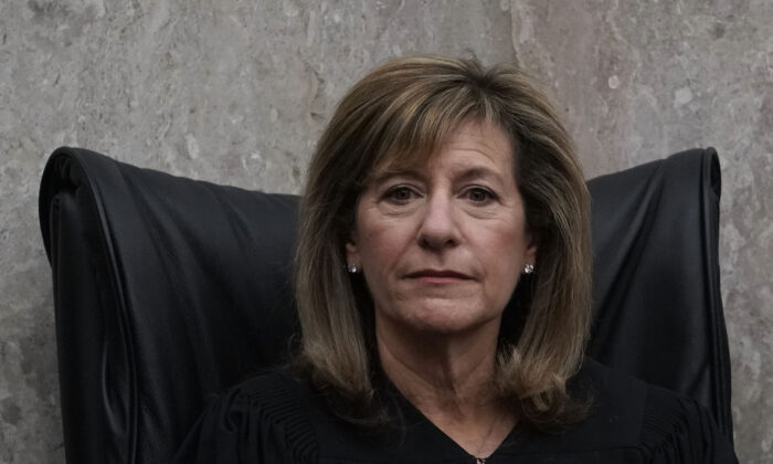 U.S. District Judge Amy Berman Jackson listens during the investiture ceremony for U.S. District Judge Trevor N. McFaddenat the U.S. District Court in Washington on April 13, 2018. (Alex Wong/Getty Images)