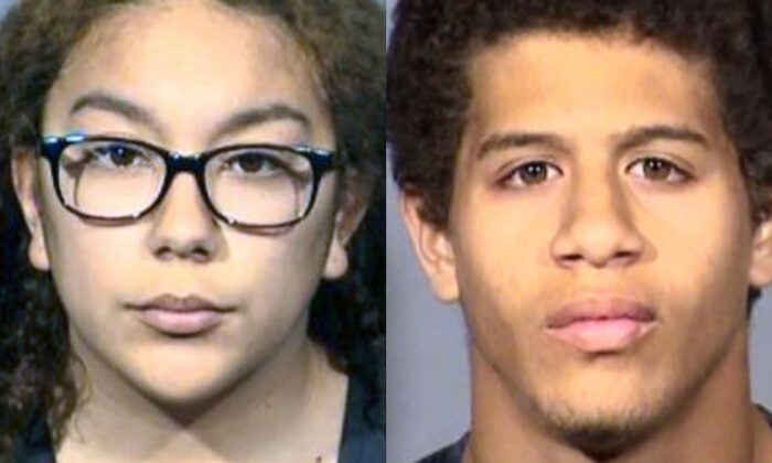 A photo from City of Hemet Police Department shows Jordan Guzman, 20 and Anthony McCloud, 18. (Hemet Police)