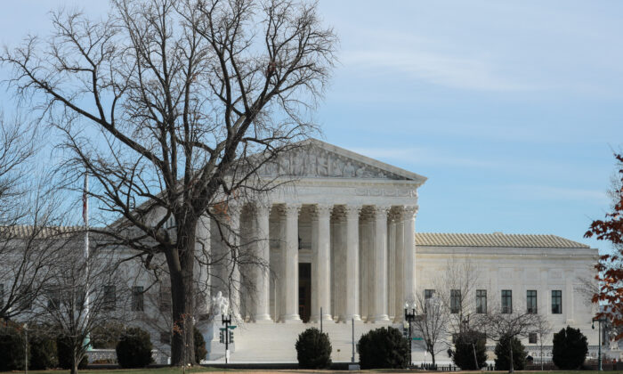 The Supreme Court in Washington on Jan. 9, 2020. (Charlotte Cuthbertson/The Epoch Times)