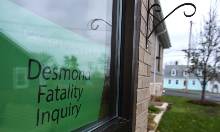 The Desmond Fatality Inquiry is being held at the Guysborough Municipal building in Guysborough, N.S. on Nov.18, 2019.(Andrew Vaughan /Canadian Press)