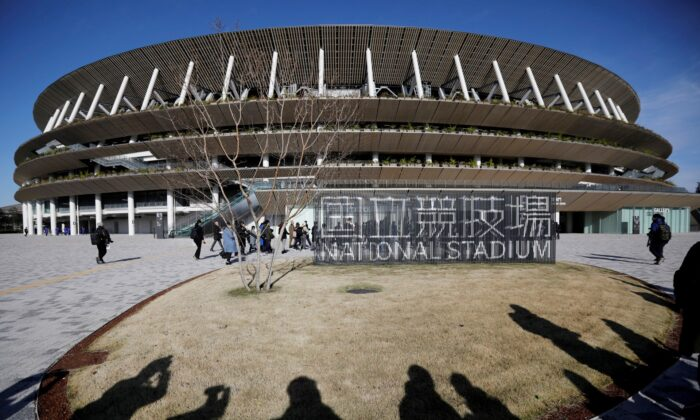 General view of the new National Stadium, the main stadium for the Tokyo 2020 Olympics and Paralympics, on Dec. 15, 2019. (Issei Kato/File Photo/Reuters)