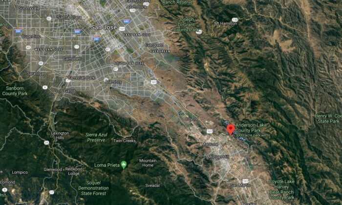 A Silicon Valley reservoir must be drained because its dam could break during a major earthquake and flood numerous towns and cities in the San Francisco Bay area. (Google Maps)