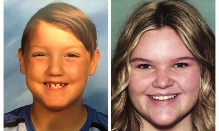 """Joshua """"JJ"""" Vallow (L) and Tylee Ryan. (National Center for Missing & Exploited Children via AP)"""