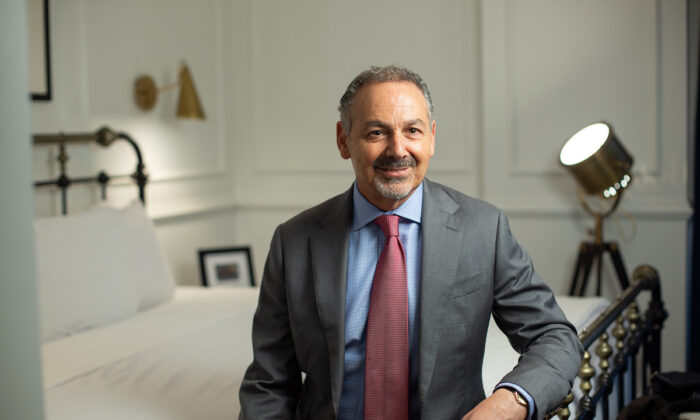 Hotelier Efrem Harkham. (Daniel Musa/The Epoch Times)