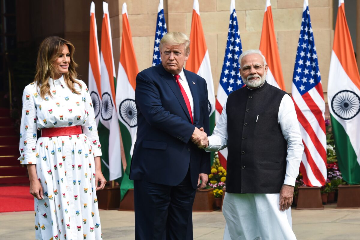 Melania, Modi, Trump