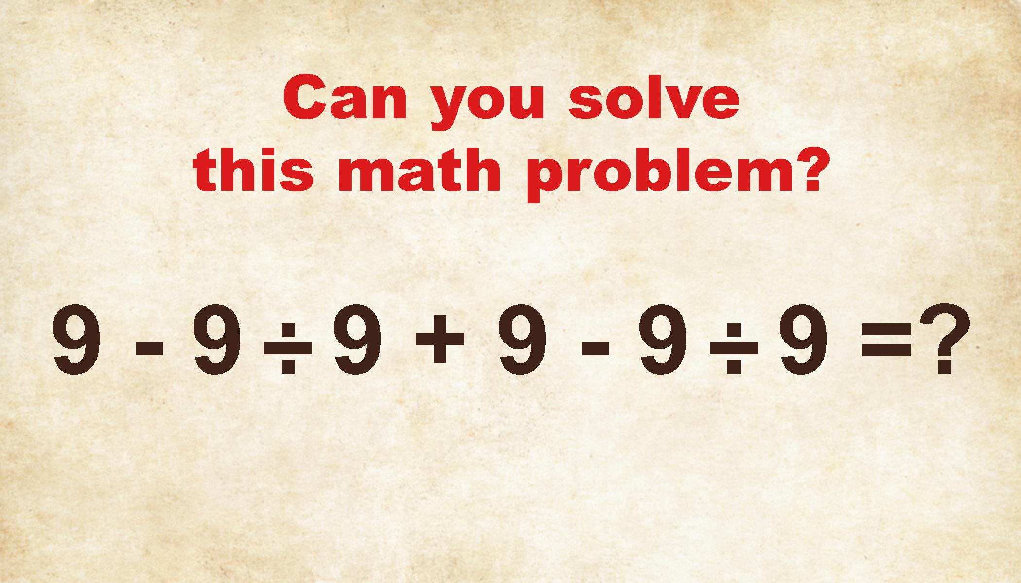 Help Me Solve A Math Problem
