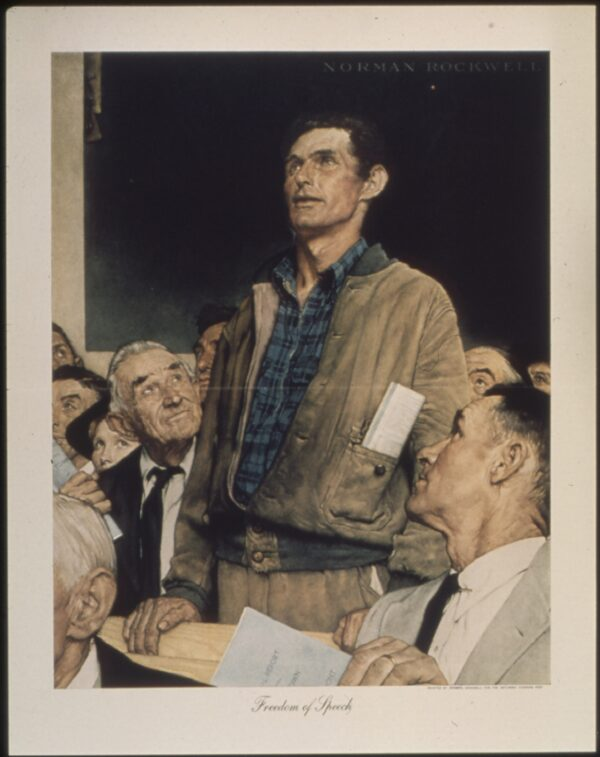 Freedom_of_Speech__Norman Rockwell
