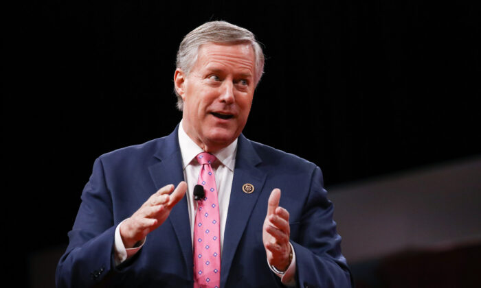 Rep. Mark Meadows (R-N.C.) at the Conservative Political Action Conference in National Harbor, Md., on Feb. 28, 2019. (Charlotte Cuthbertson/The Epoch Times)