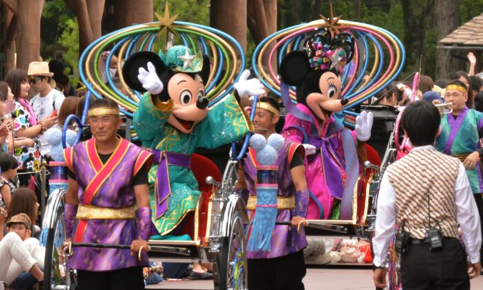 Disney characters are seen in a file photo. (KAZUHIRO NOGI/AFP via Getty Images)