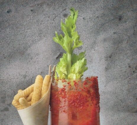 Judy Joo's twist on a Bloody Mary uses kimchi juice and celery-infused soju. (Jean Cazals)