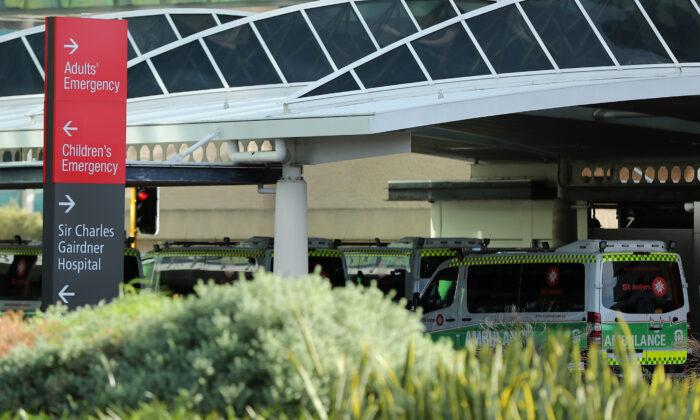 A general view of Sir Charles Gairdner Hospital in Perth, Australia, on Feb 28, 2020. (Paul Kane/Getty Images)