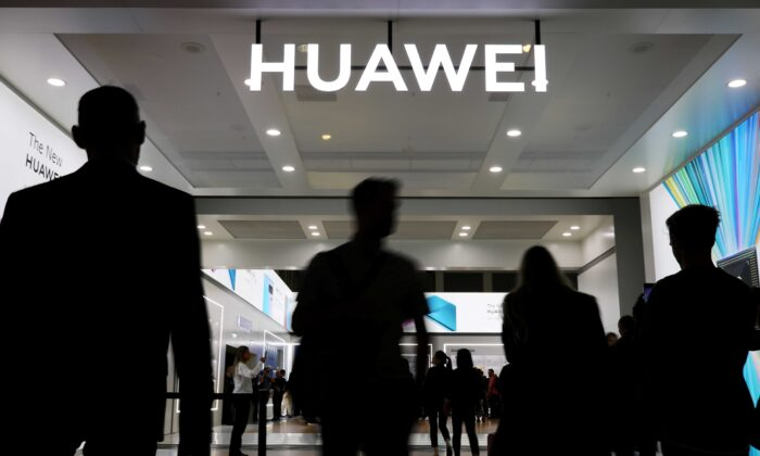The Huawei logo is pictured at the IFA consumer tech fair in Berlin, Germany, on Sept. 6, 2019. (Hannibal Hanschke/Reuters)
