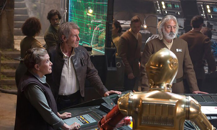"""Andrew Jack, a British actor and dialect coach who had roles in a number of """"Star Wars"""" movies, has died aged 76 after contracting the CCP virus, his agent has said. (Courtesy of Lucasfilm/Bad Robot Productions)"""