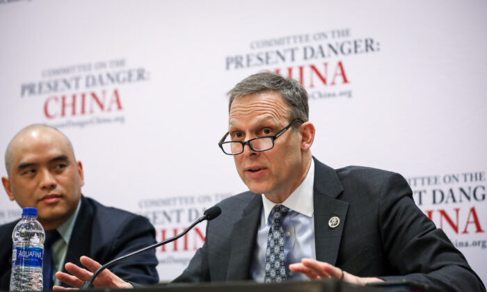 """Rep. Scott Perry (R-Pa.) speaks at a panel titled """"The Present Danger: China"""" at the Conservative Political Action Conference (CPAC) in National Harbor, Md., on Feb. 27, 2020. (Samira Bouaou/The Epoch Times)"""