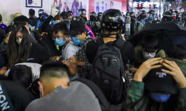 Hong Kong protest in protesters at Mong Kok