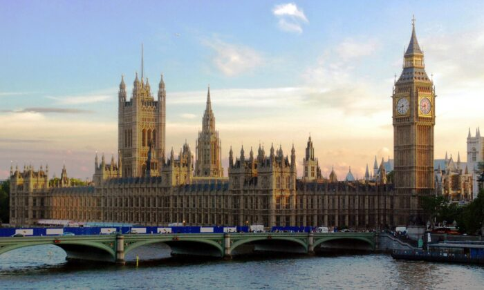 General view of the Houses of Parliament in London. (Public Domain)