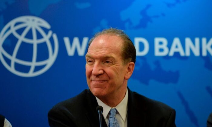 World Bank President David Malpass looks on during a press conference at the World Bank office in New Delhi, India, on Oct. 26, 2019. (Sajjad Hussain/AFP via Getty Images)