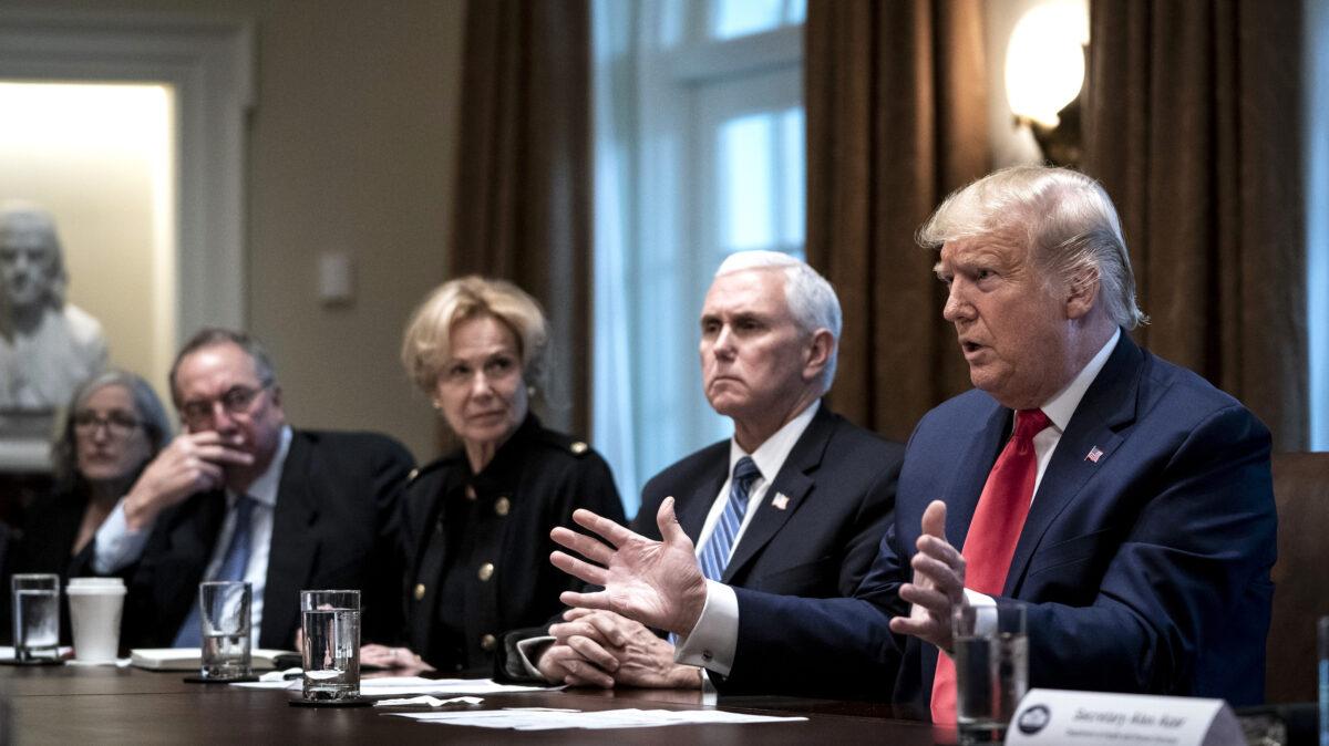 Trump, Coronavirus Task Force Members Meet With Pharmaceutical Executives