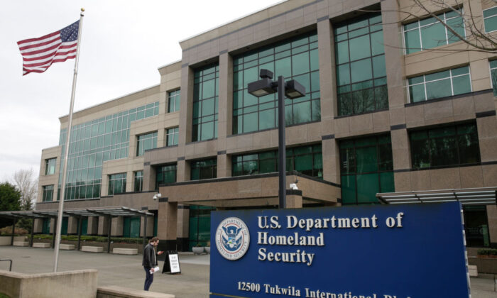 The US Department of Homeland Security in this file photo. (Jason Redmond/AFP via Getty Images)