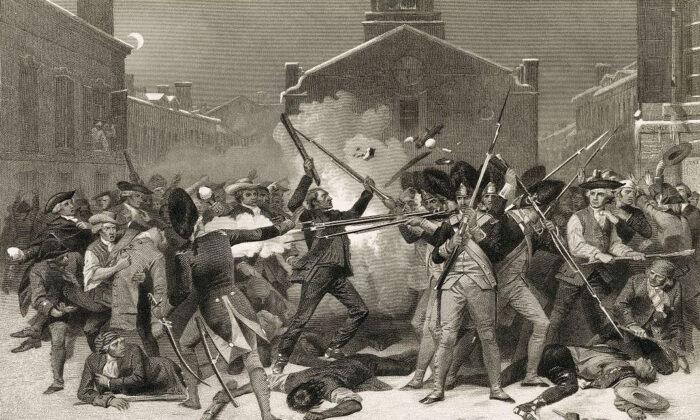 """Boston Massacre"" by Alonzo Chappel. (Public domain)"